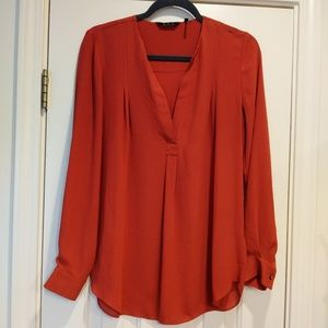 Anthropologie: ZOA dark orange blouse